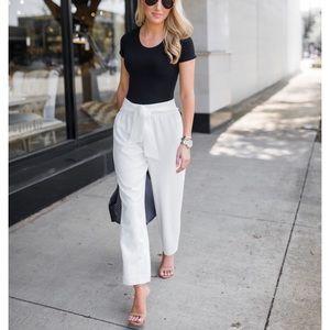 • Club Monaco • Dacey Crepe Pant Trouser White 10